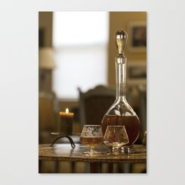 Crystal Decanter and Glasses Canvas Print