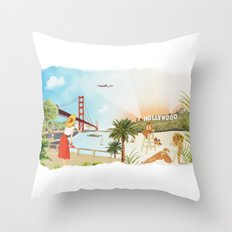 San Francisco + Los Angeles Throw Pillow