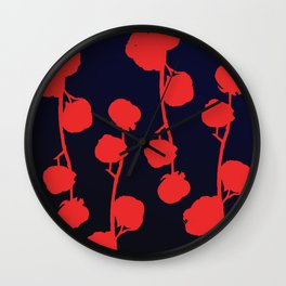 Cotton flower abstract Wall Clock