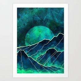As a new moon rises Art Print