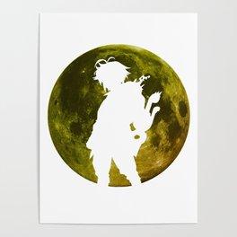 Anime Moon Inspired Design Poster