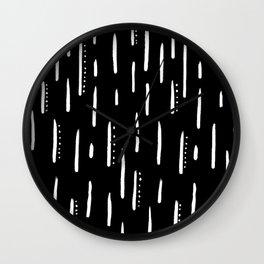 Dashing Away - Minimal Black and White Line Wall Clock