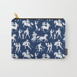 Greek Figures // Dark Blue Carry-All Pouch