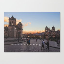 Walk in the Plaza Canvas Print