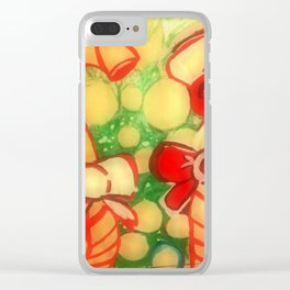 Christmas Candy Clear iPhone Case