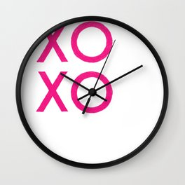XOXO [Pink] Wall Clock