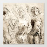 dancing Canvas Prints featuring dancing by woman