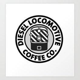 Diesel Locomotive Coffee Co. Art Print