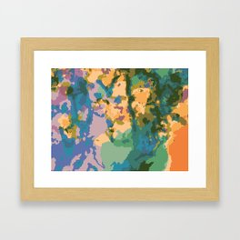 Summer Watercolor Pattern Framed Art Print