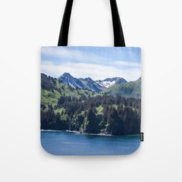 Three Sisters Mountains Photography Print Tote Bag