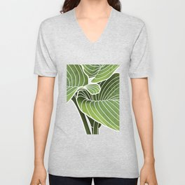 Hosta Detail Unisex V-Neck