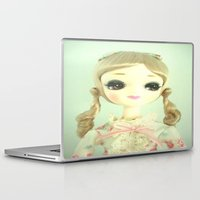 doll Laptop & iPad Skins featuring DOLL  by Vintage  Cuteness