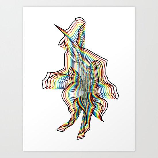 Infinite Unicorn Art Print