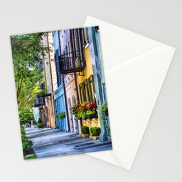Rainbow Row II Stationery Cards