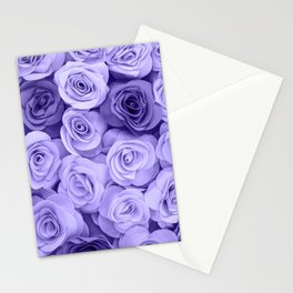 Violet Roses Stationery Cards