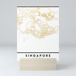 SINGAPORE CITY STREET MAP ART Mini Art Print