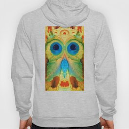 The Owl - Abstract Bird Art By Sharon Cummings Hoody