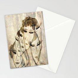 Silence shower Stationery Cards