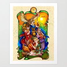 The Golden Goddesses  Art Print