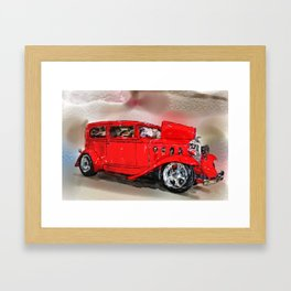 The Red Car Framed Art Print