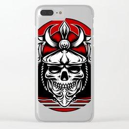 Samurai Skull Clear iPhone Case