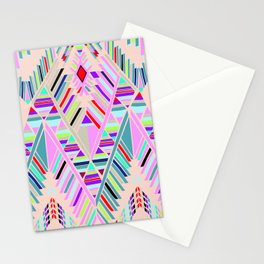 geo sushi pink Stationery Cards