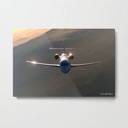 Reflections on a Plane Metal Print