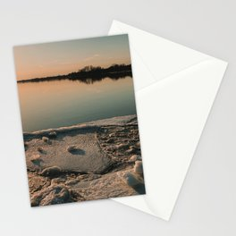 Sunset over the River Stationery Cards