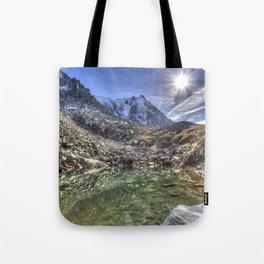 Mont Blanc Glacier Lake Tote Bag