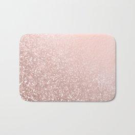 Rose Gold Sparkles on Pretty Blush Pink VI Bath Mat