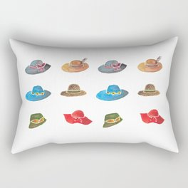 Crazy hat lady Rectangular Pillow