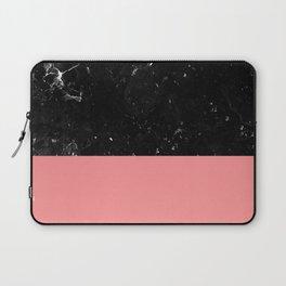 Coral Meets Black Marble #1 #decor #art #society6 Laptop Sleeve