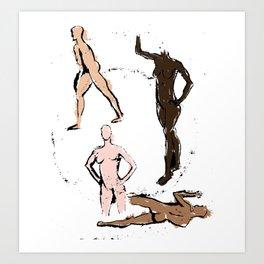 FEM POWER COLORED CANVAS Art Print