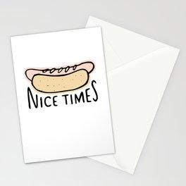 Nice Times Hot Dog Stationery Cards