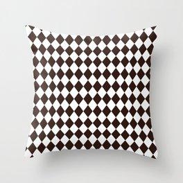 Chicory Coffee Modern Diamond Pattern Throw Pillow