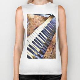 Piano keys art Biker Tank