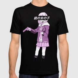 GUN GIRL PINK - SAD JAPANESE ANIME AESTHETIC T-shirt