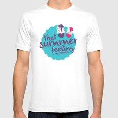 That summer feeling MEDIUM White Mens Fitted Tee