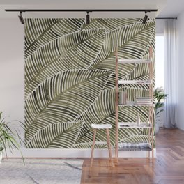 Tropical Leaves – Taupe Palette Wall Mural