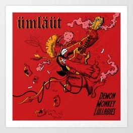 Umlaut-Demon Monkey Lullabies (fake heavy metal album) Art Print