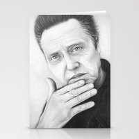 christopher walken Stationery Cards featuring Christopher Walken Portrait by Olechka