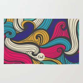 out waves Rug