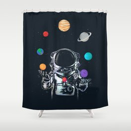 Space Circus Shower Curtain