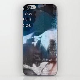 The world in my eyes portrait iPhone Skin