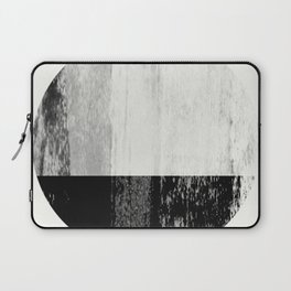 Scandinavian Black and White Home Decor - Abstract Art Laptop Sleeve