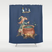 witch Shower Curtains featuring Witch by Catru