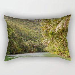 Boats Float Down the River Rectangular Pillow