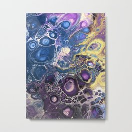 Purple Mohave Turquoise Metal Print