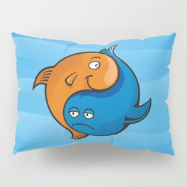 Yin Yang Fish Cartoon Pillow Sham
