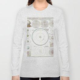 Homann Heirs Solar System Astronomical Chart Long Sleeve T-shirt